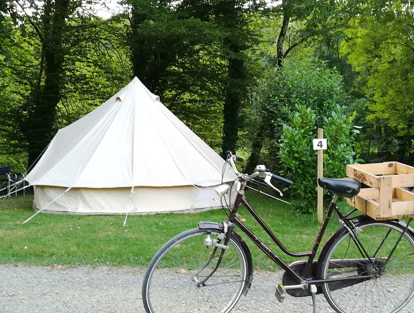 Toile de tente ombragée