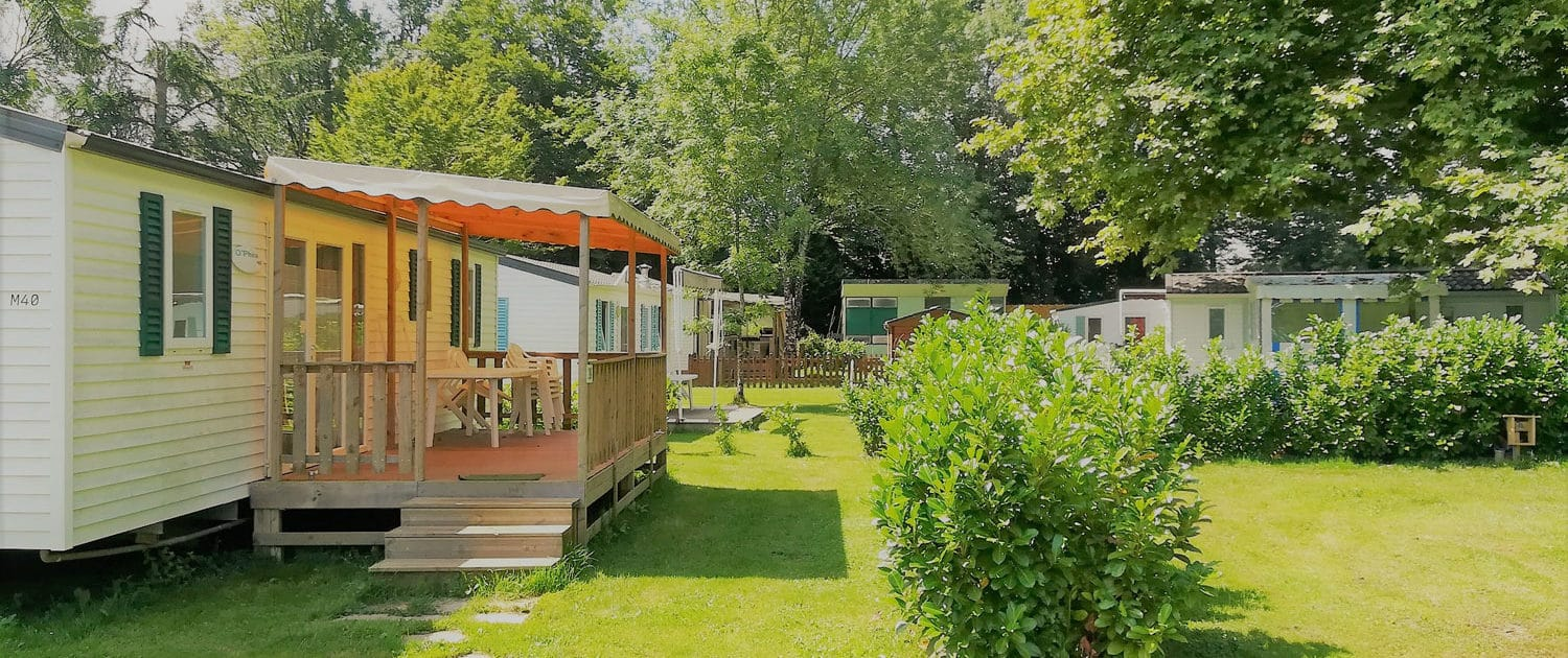 Mobil-homes du camping Le Clupeau