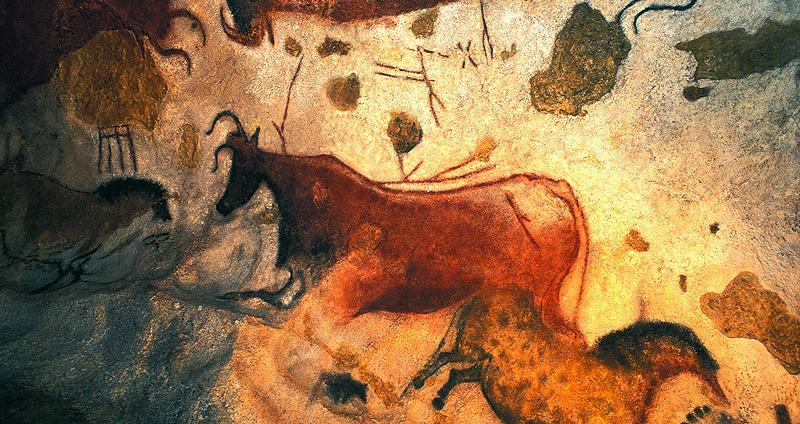 Peinture dans les grottes de Lascaux