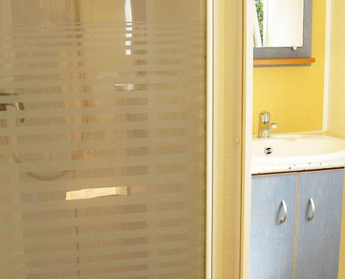 Douche d'un mobil-home 2 chambres